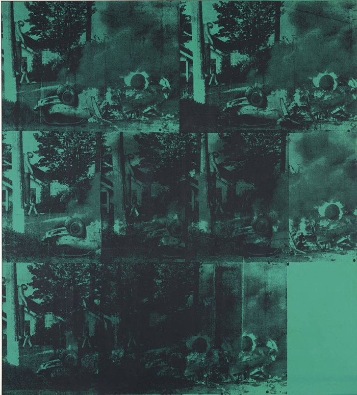 "Andy Warhol, ""Green Car Crash from"", Serigrafia, 1963."