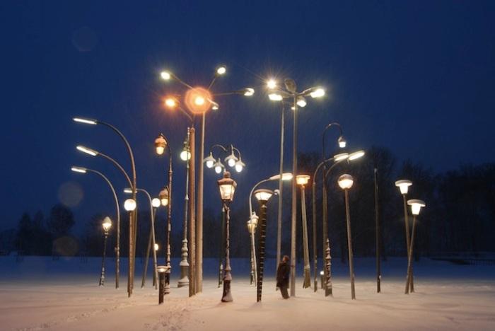 "Sonja Vordermaier, ""Streetlampforest"", 2010."