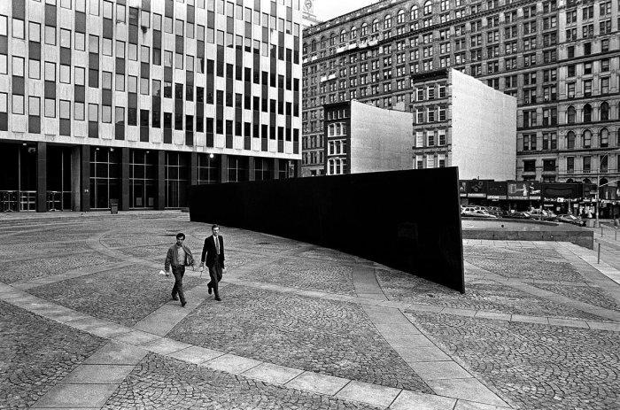 """Richard Serra, """"Tilted Arc"""", 1981."""