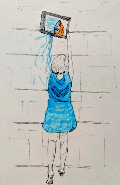 Imagem de capa. Ilustração. Ritos de passagem e ferros de passar. Fabiana Pedroni.