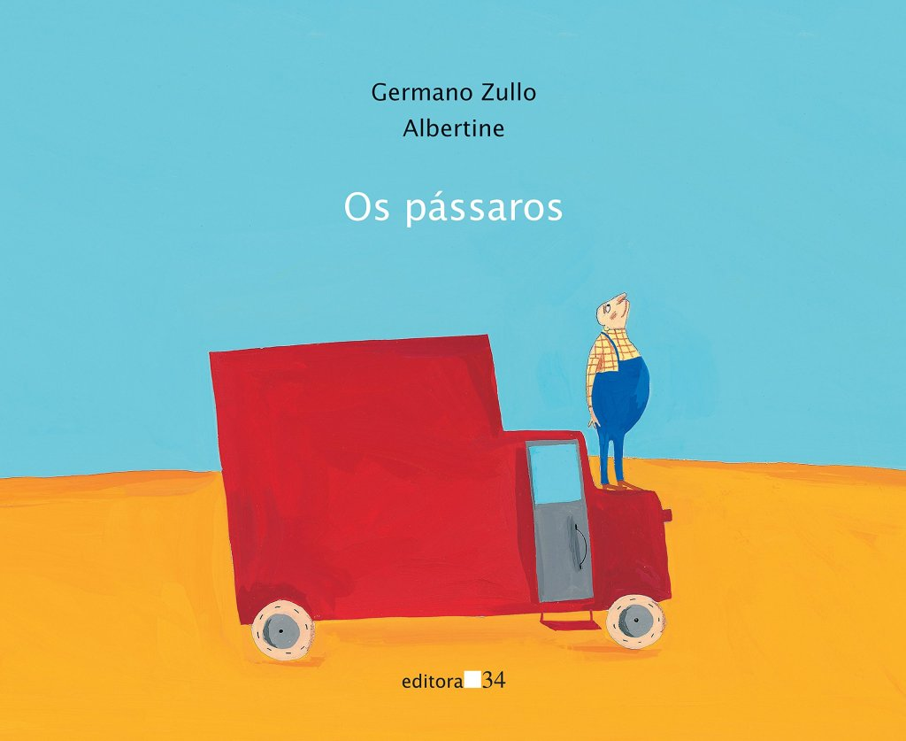 Imagem de capa. Livro infantil. Os pássaros. Germano Zullo. Albertine.