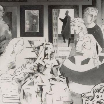 Imagem de capa. As Meninas. Picasso. Richard Hamilton.