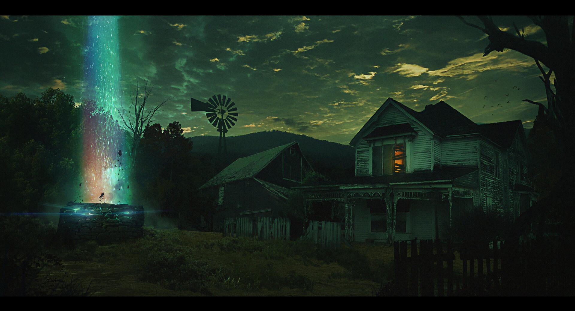Imagem de capa. Color out of space. Lovecraft. A cor que caiu do céu.