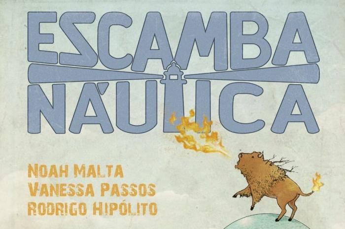 Imagem de capa. Resenha. Escampanáutica. Ilustração. Felipe Helói.