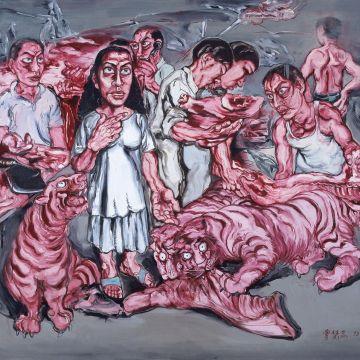 Imagem de capa. Resenha. Ana Paula Maia. Zeng Fanzhi.